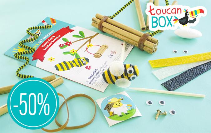 Toucanbox bastelbox mit Biene