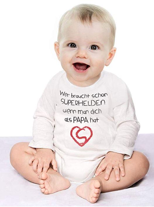 Baby mit Sprüche-Body