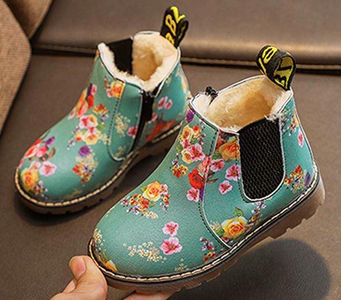 Herbst-Boots für Kinder mit Blumenprint