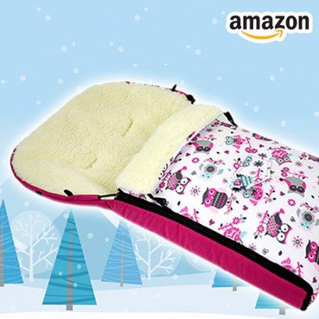 Winterfußsack für Babies in Eulen-Design