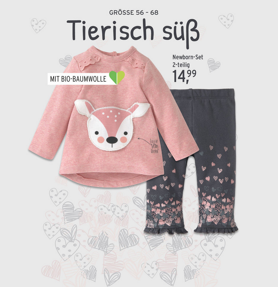kompletten Outfit in rosa