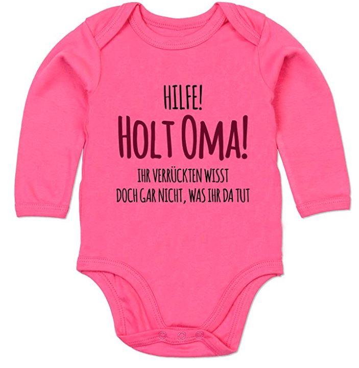 Pinker Sprüche Body für Babies