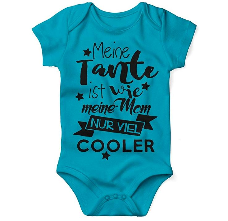 Blauer Babybody mit lustigem Spruch