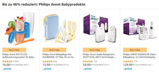 Philips Avent Produkte bei Amazon