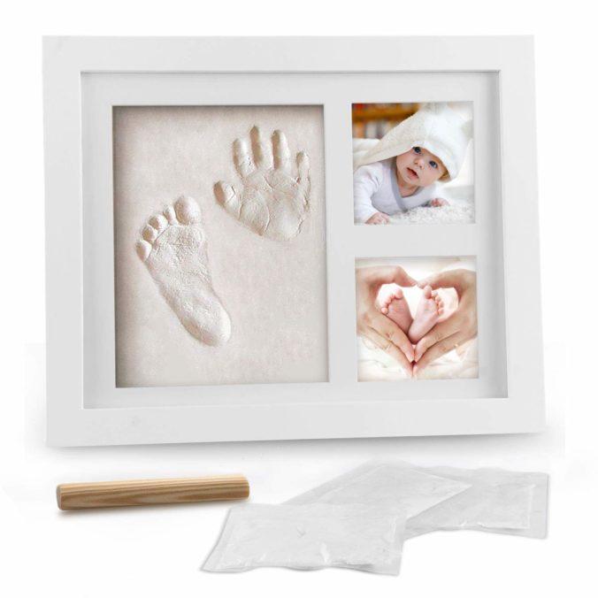 Fuß- und Handabdruck Bilderrahmen für Babys