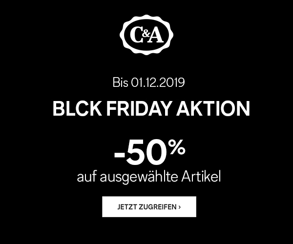 C&A Black Week Aktion