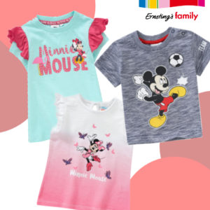 Ab 3,99€ Micky & Minnie Maus Kindermode bei Ernsting's Family