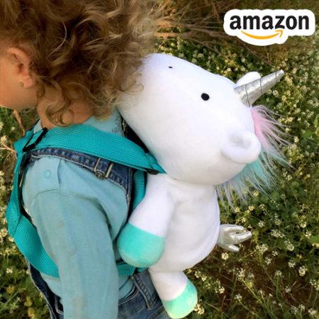 Kind mit Einhorn Rucksack