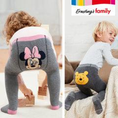 Kleine Kinder in Disneystrumpfhosen