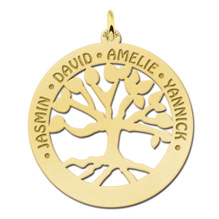 Goldschmuck mit Baum