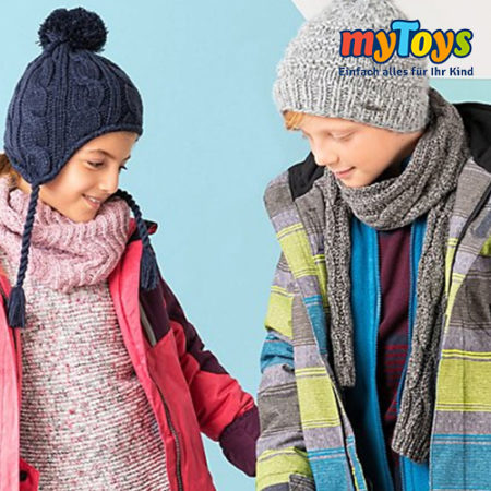 Kinder in Wintermode