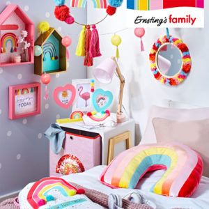 Ernsting's Family:  Kunterbunte Kinderzimmerdeko ab 3,99€
