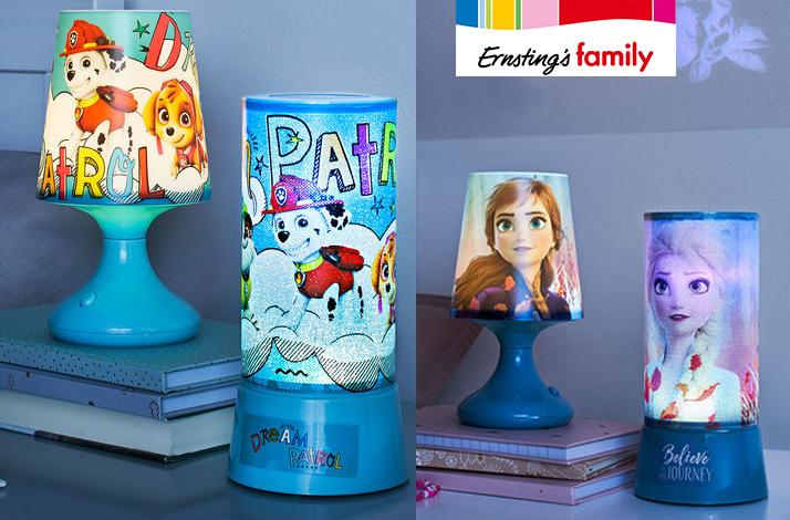 Lampen mit Paw Patrol und Frozen Muster