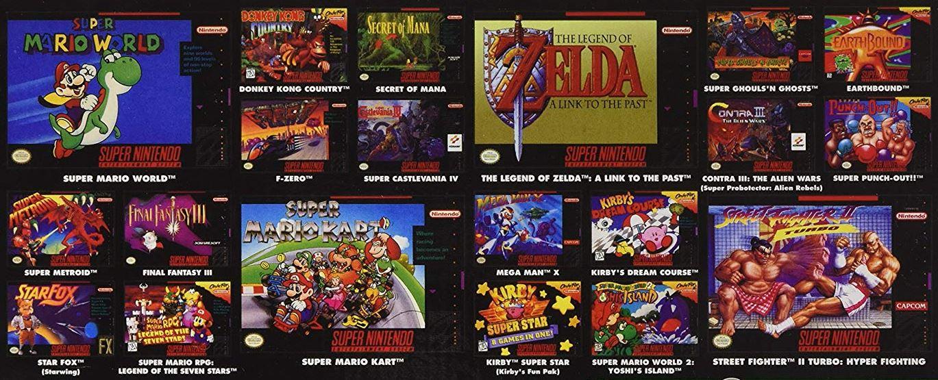 Nintendo Mini Classic Spiele