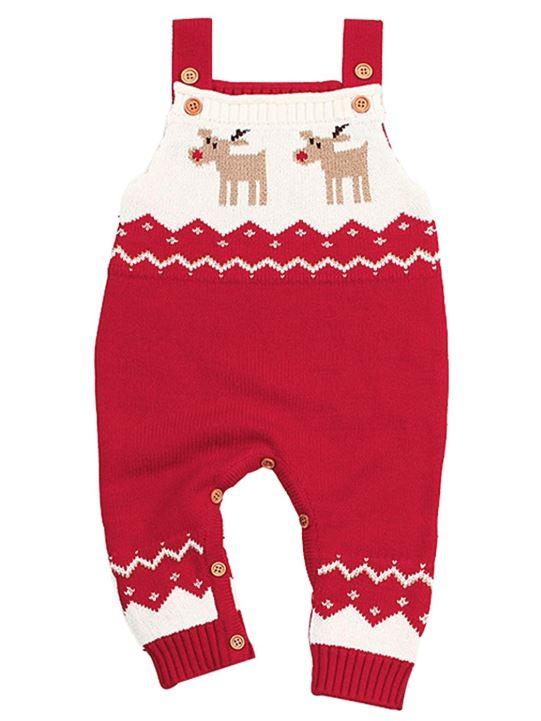 Strick Latzhose mit Weihnachtsmuser