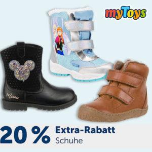myToys: 20% Rabatt auf Schuhe