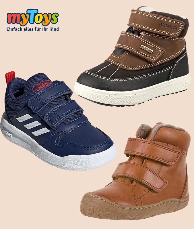 Braune und Blaue Kinderschuhe von Adidas und Geox