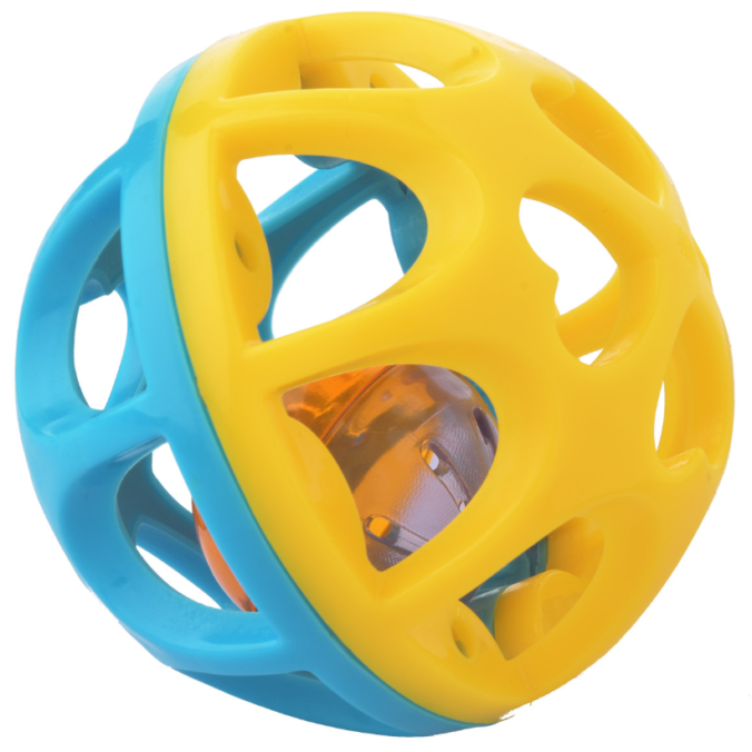 blau-gelber Klangball für Babies