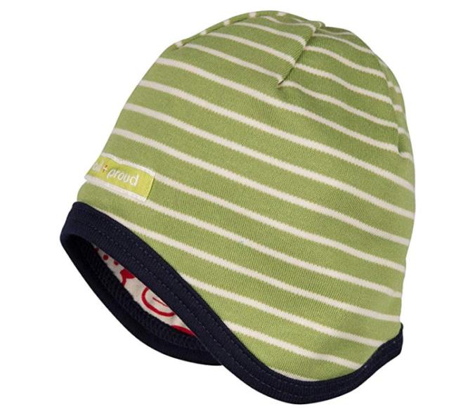 grün gestreifte Wendemütze für Babya