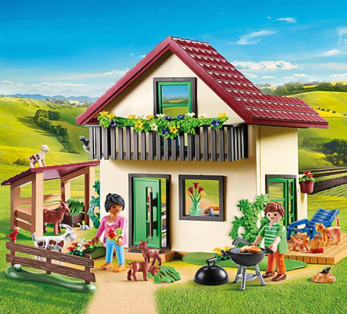 Playmobil Bauernhaus mit Garten