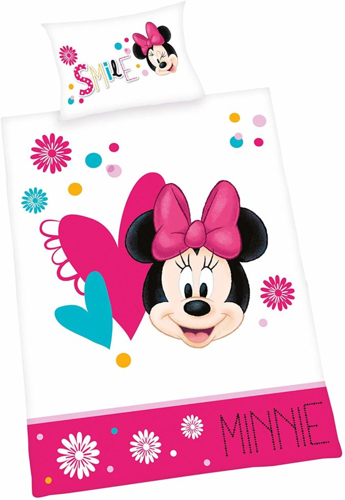 Bettwäsche im Minnie Mouse Design