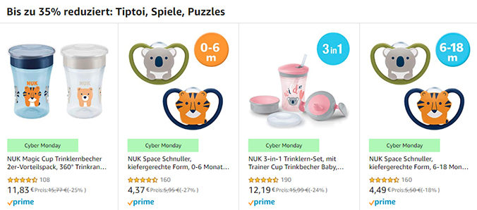 NUK Rabattaktion von amazon