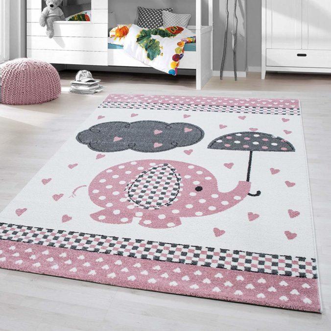 Elefantenteppich im Kinderzimmer