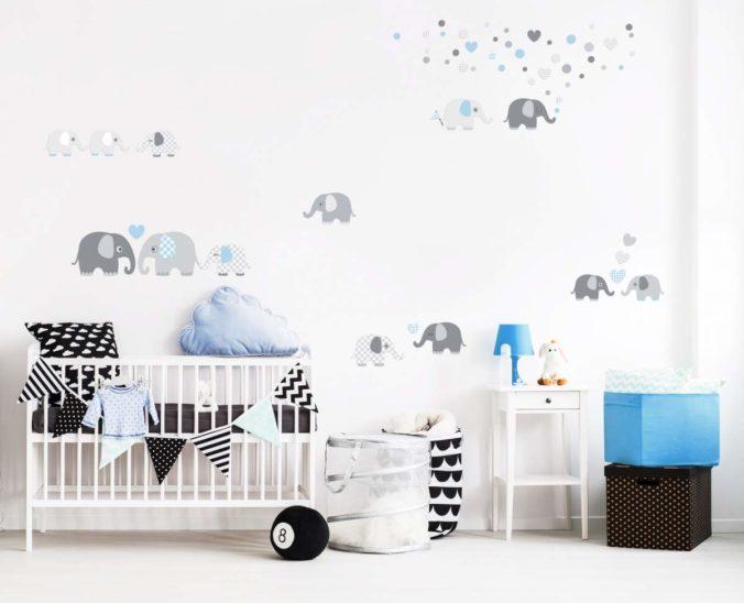 Kinderzimmer Wandsticker mit Elefantendesign