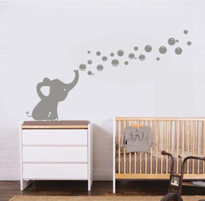 Kinderzimmer Wandtattoo mit Elefant