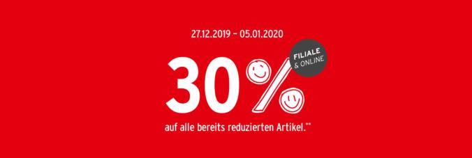 30% Rabatt Grafik