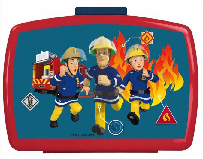Brotdose mit Feuerwehrmann Sam Motiv