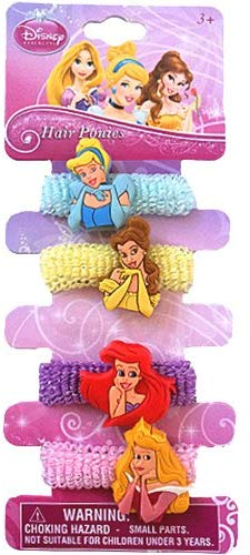 Vier Haargummis mit Prinzessinnen