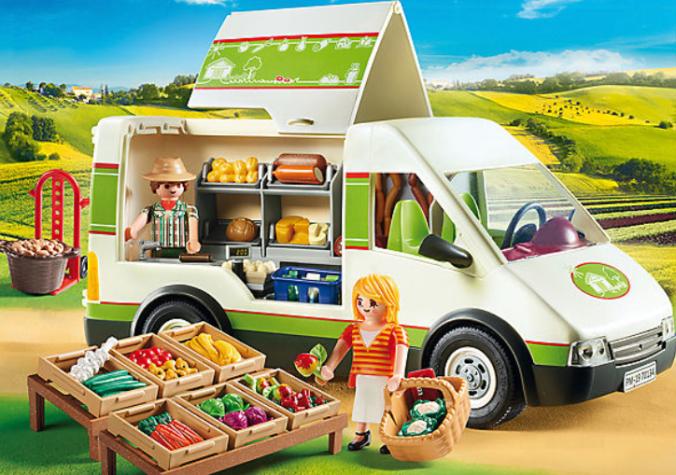 Playmobil Hofladen Fahrzeug mit Zubehör