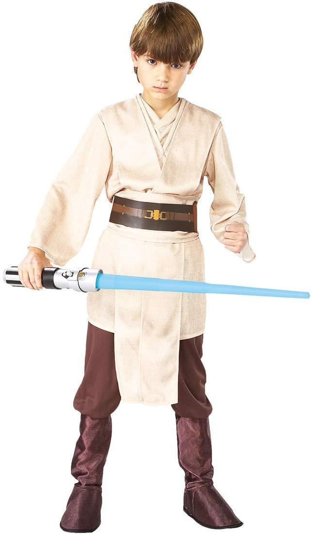 Junge im Star Wars Jedi Kostüm
