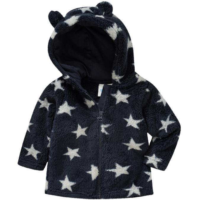 Kuscheljacke mit Ohren mit Sternenprint für Kinder