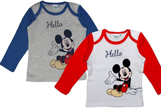Zwei Langarmshirts mit Micky Mouse für Kinder