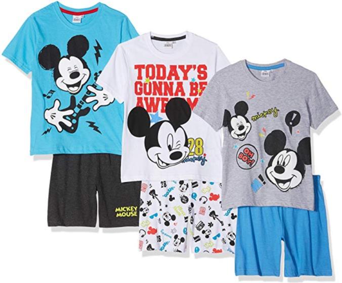 drei Pyjamas für Jungen im Micky Mouse Desin