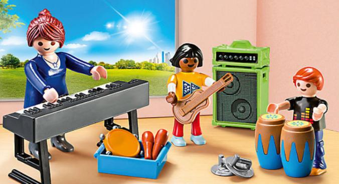 Playmobil Musikunterricht Lehrerin mit Schülern