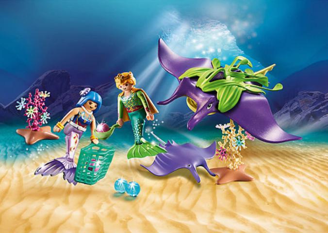 Meerjungfrauen mit Rochen
