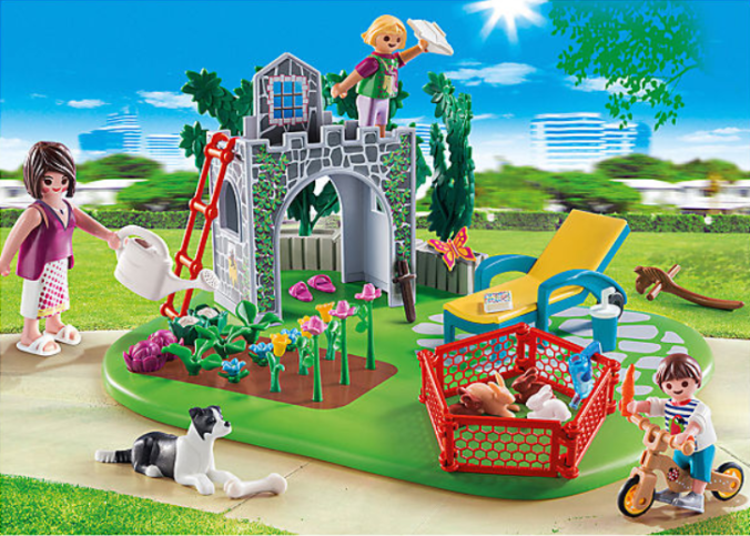 Playmobil Set Familiengarten