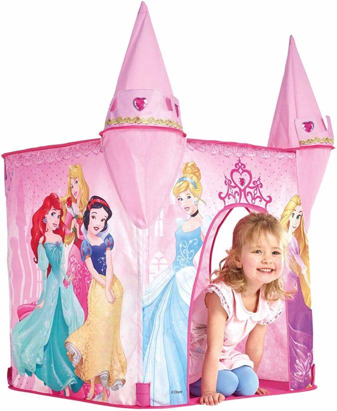 Pop-up Spielzelt mit Prinzessinnnen in rosa