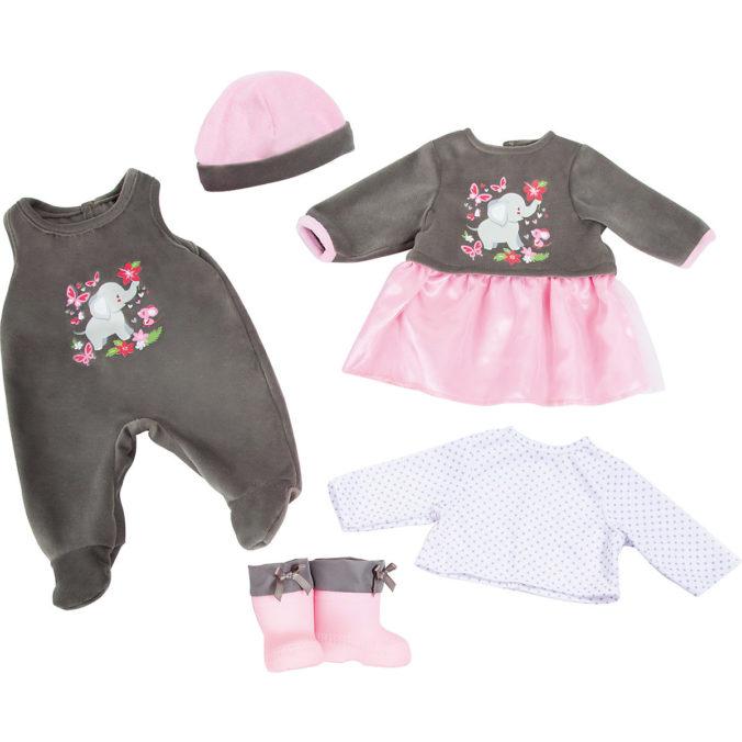 Kleidung für Puppen mit Elefanten-Design