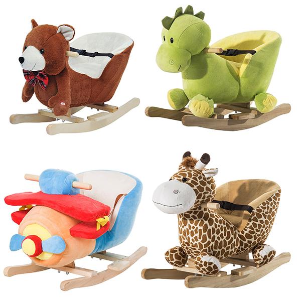 Schaulspielzeuge Bär, Drache, Flugzeug, Giraffe