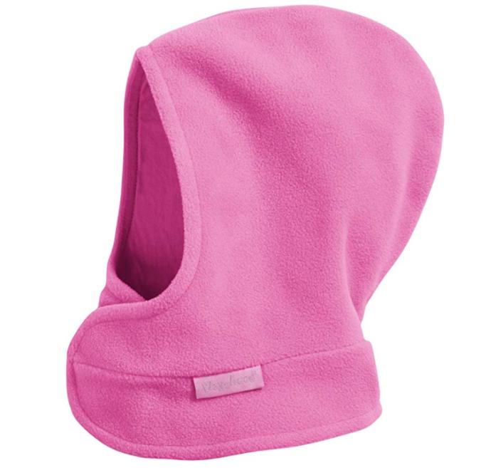 Pinke Schlupfmütze aus Fleece