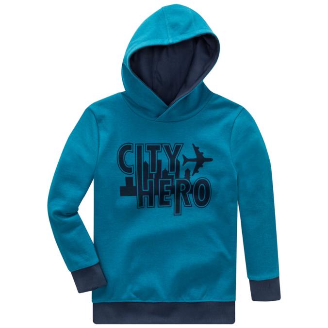 Blaues Sweatshirt mit Aufdruck für Jungen