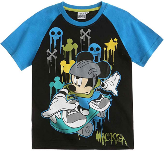 T-SHirt mit skatender Micky Mouse
