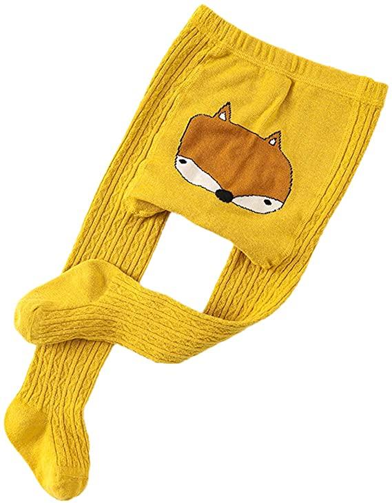 Amazon Babystrumpfhose gelb mit Fuchs