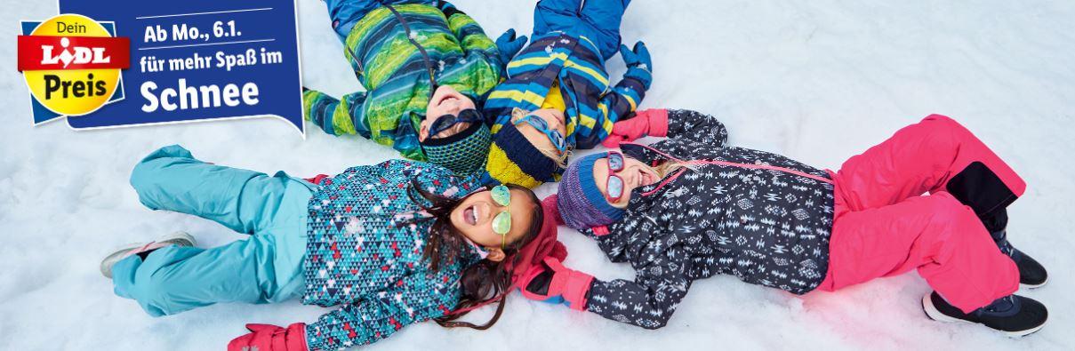Kinder liegen im Schnee