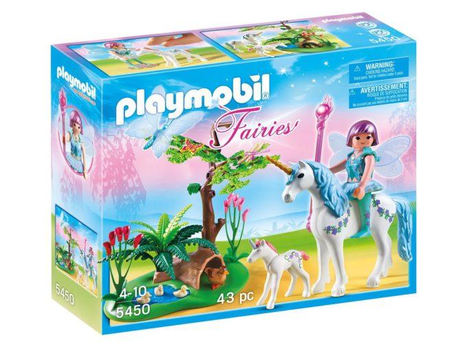 Playmobil Fee auf Einhorn mit Fohlen