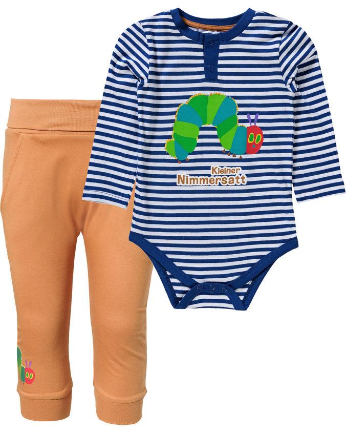 Babybody und Hose mit Raube Nimmersatt Motiv
